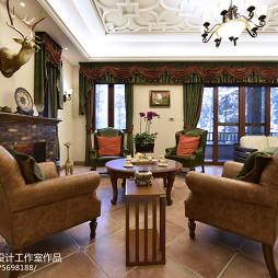 家装美式风格客厅设计装修