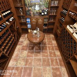 美式风格复式酒窖设计