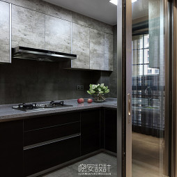 家装现代风格厨房布局效果图