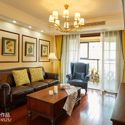 家装美式风格客厅设计图片