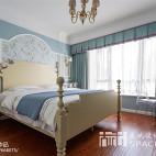 典雅美式风格卧室效果图