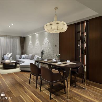 现代风格三居室餐厅效果图