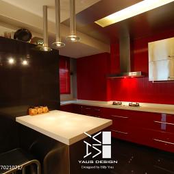 現代風格紅色系廚房裝修