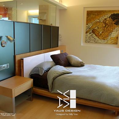 现代风格隔断式卧室设计