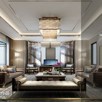 深圳 盐田 上善·梧桐苑 何女士府邸设计提案展示_2431643