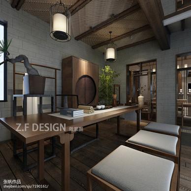 新中式茶馆店面设计 效果图_2433418