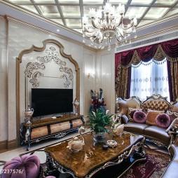 豪华欧式风格别墅背景墙装修