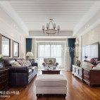 清新美式风格客厅设计效果图
