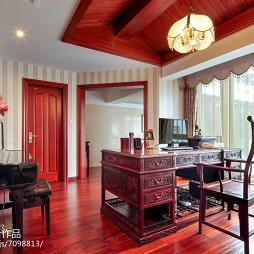 家装中式风范书房设计