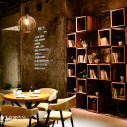 文化餐饮店书架设计