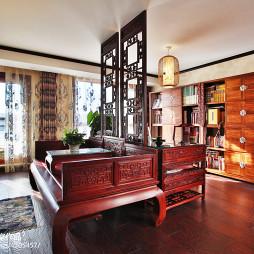 复古混搭风格别墅书房设计