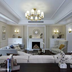 典雅美式风格别墅客厅装修