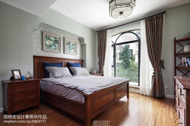 雅致美式卧室效果图