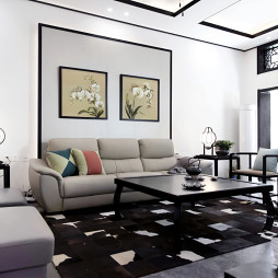 静雅中式风格客厅效果图