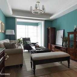 家装美式风格客厅装修效果图