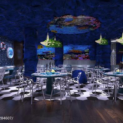 海洋风格主题餐厅
