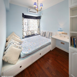 蓝色系美式儿童房装修