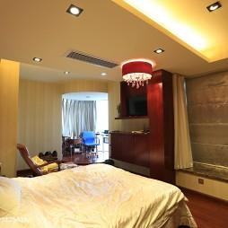 中式三居室卧室装修