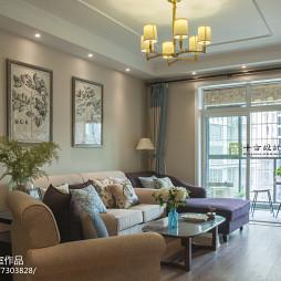 美式二居室客厅设计案例