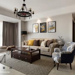 简单美式风格客厅设计案例