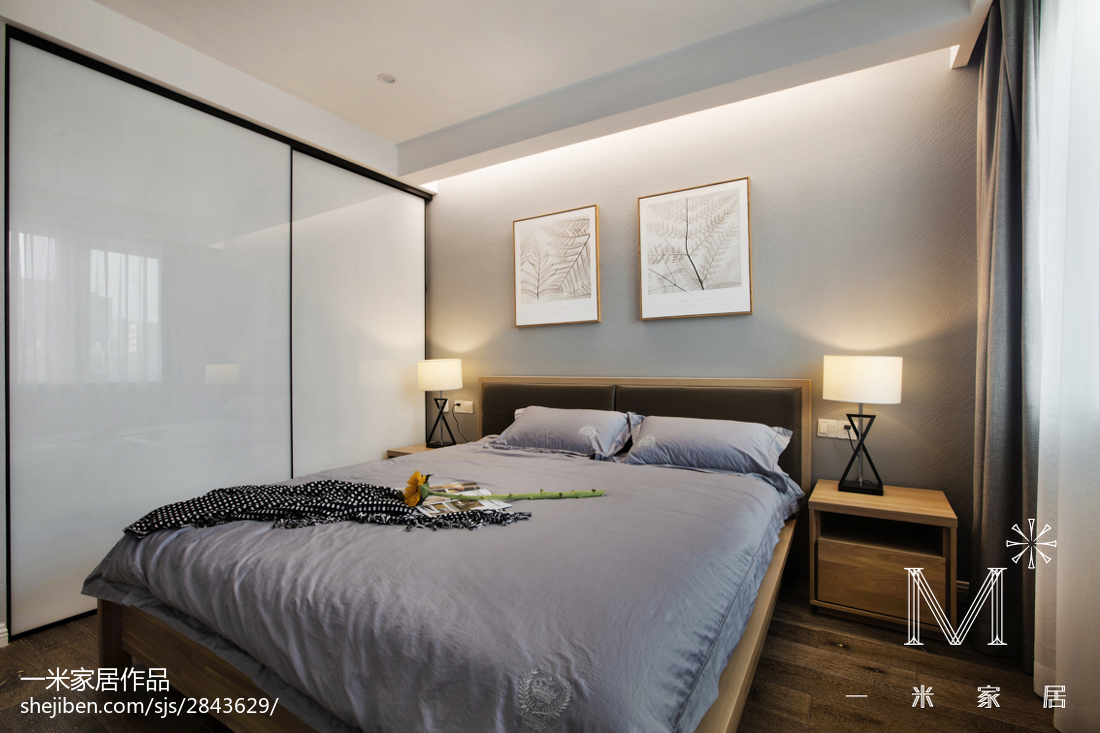 餐厅吊灯模型_简单现代风格卧室装修 – 设计本装修效果图