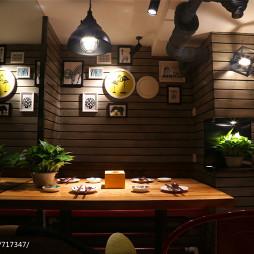 休闲主题餐厅照片墙装修