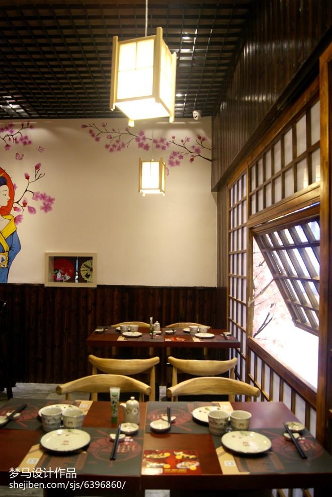 工装日式餐厅设计效果图