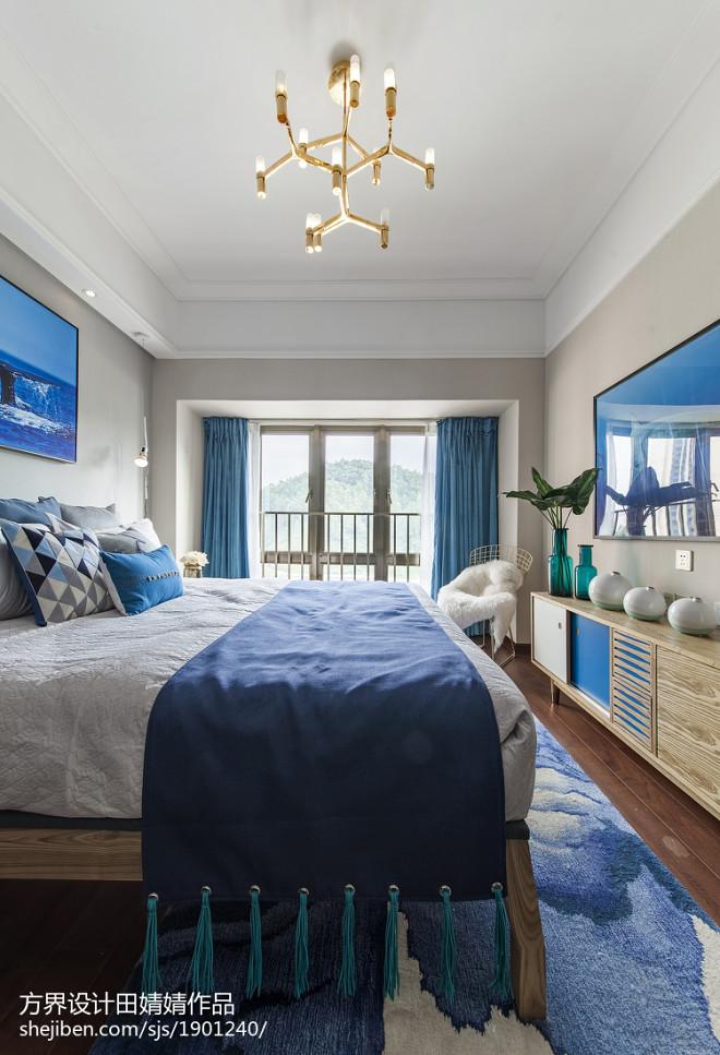 清爽现代风格卧室设计效果图