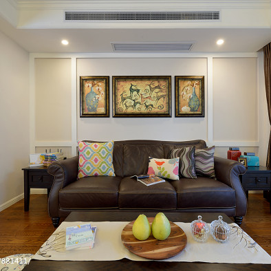 时尚美式二居室客厅设计
