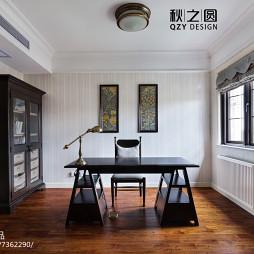 简洁美式风格书房设计