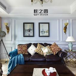 流行美式风格客厅设计案例