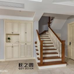 家装美式风格别墅楼梯设计