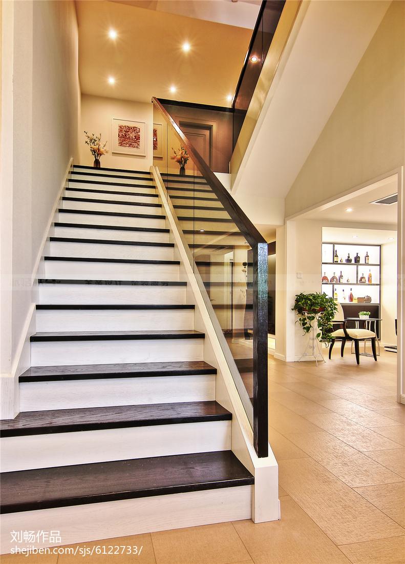 生活资讯_别墅现代风格楼梯装修 – 设计本装修效果图