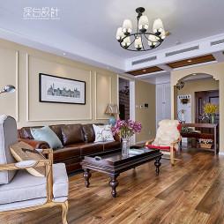 混搭美式风格客厅设计