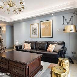 家装美式风格四居室客厅设计