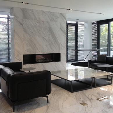 家装现代风格别墅客厅效果图