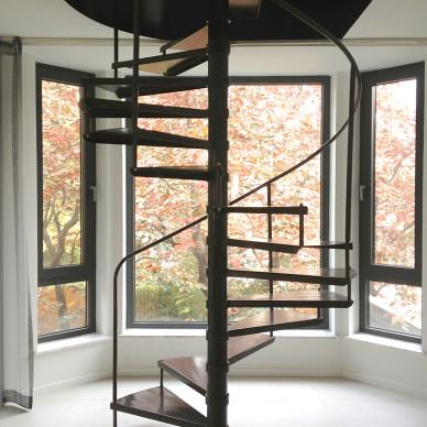 现代风格旋转楼梯设计