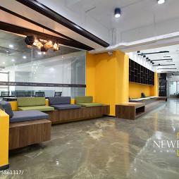 工装办公空间休息区设计