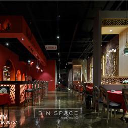 泰式主题餐厅过道设计