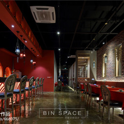 泰式主题餐厅过道装修案例