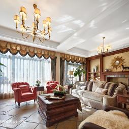 最新美式风格客厅效果图