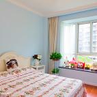 清新美式风格卧室效果图