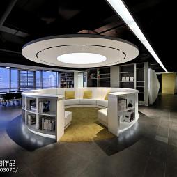 前线机构办公空间阅读区装修