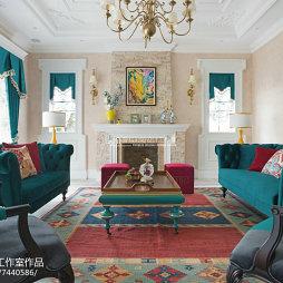 唯美田园风格客厅设计大全