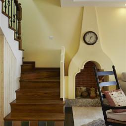 复古混搭风格楼梯设计