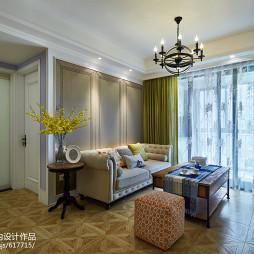 美式三居室客厅图片