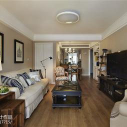 最新美式三居室客厅设计