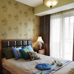 雅致东南亚风格卧室效果图