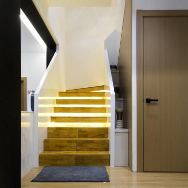 工装美容会所楼梯设计效果图