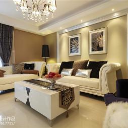 家装简欧风格客厅布置